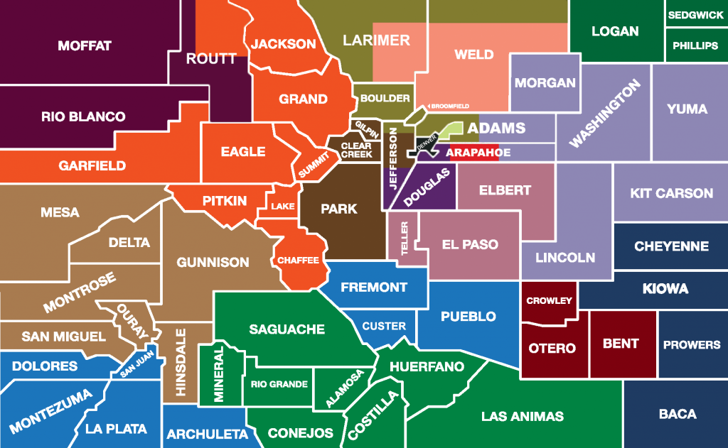 Map Of Colorado Counties Service Area Map by County   Colorado Community College System Map Of Colorado Counties