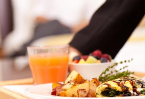 Individual serving breakfast