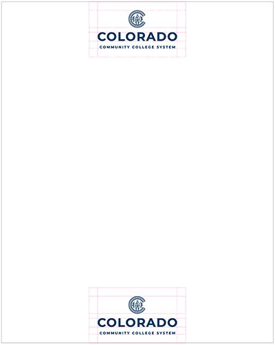 tertiary logo letterhead placement