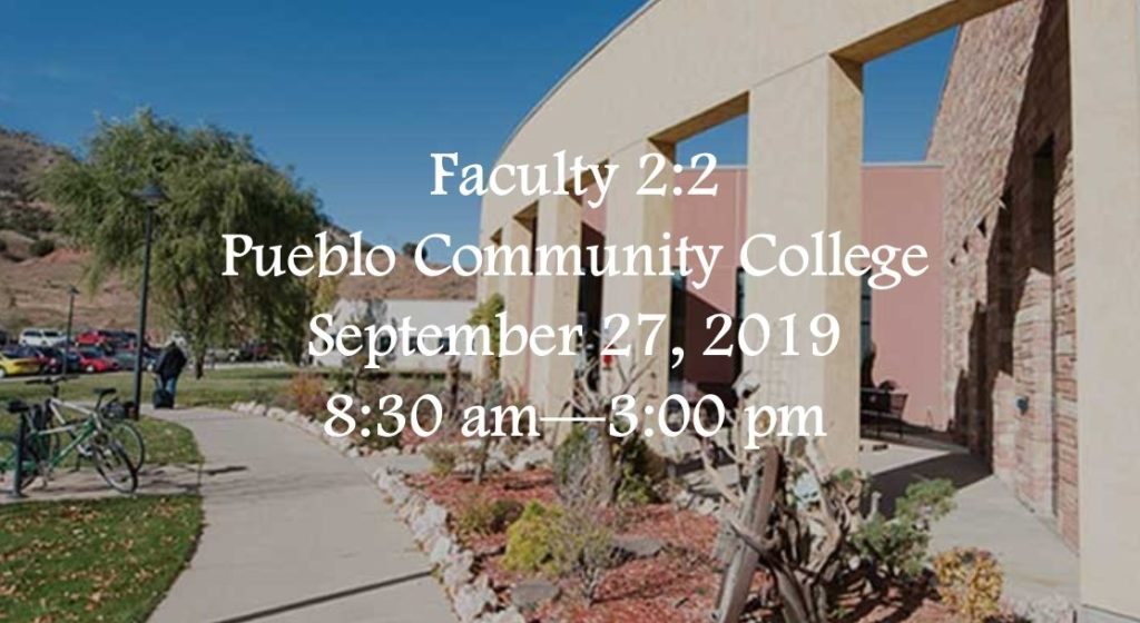 2:2 Faculty Conference September 27, 2019