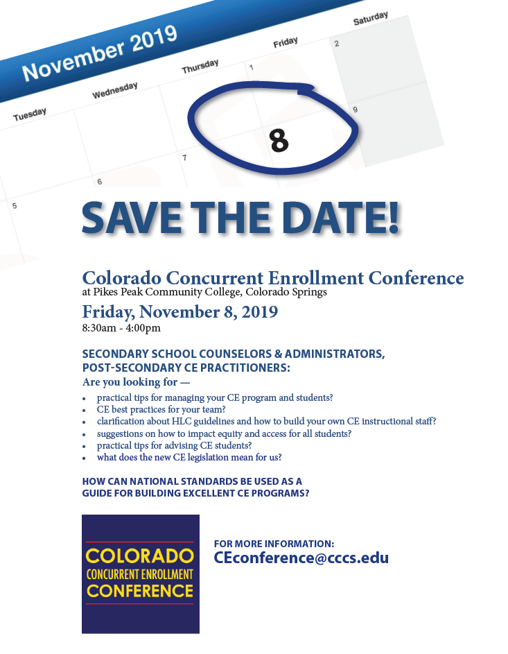 CE Conference Save the Date