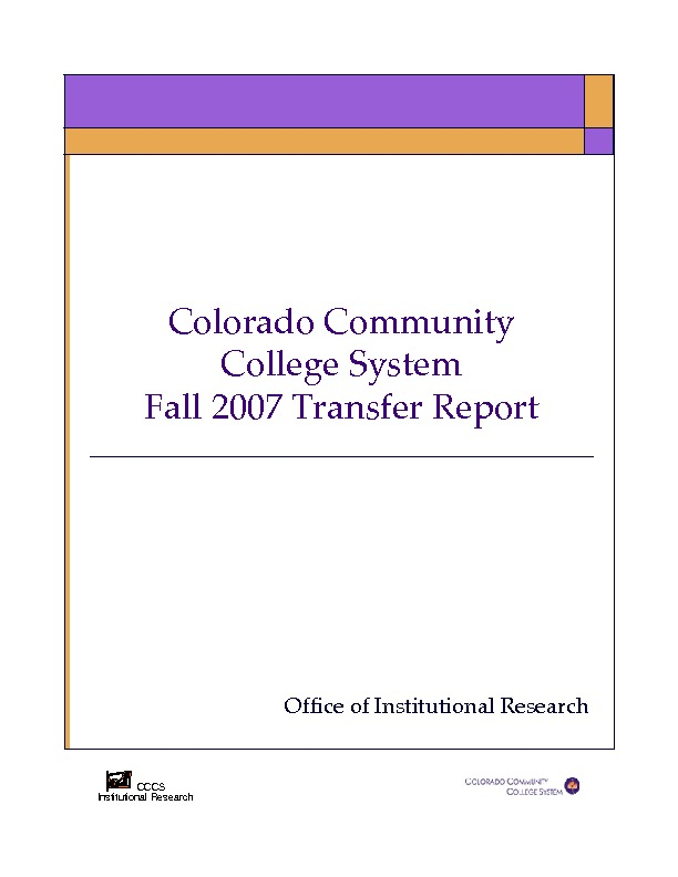 2007 Fall Transfer Report PDF