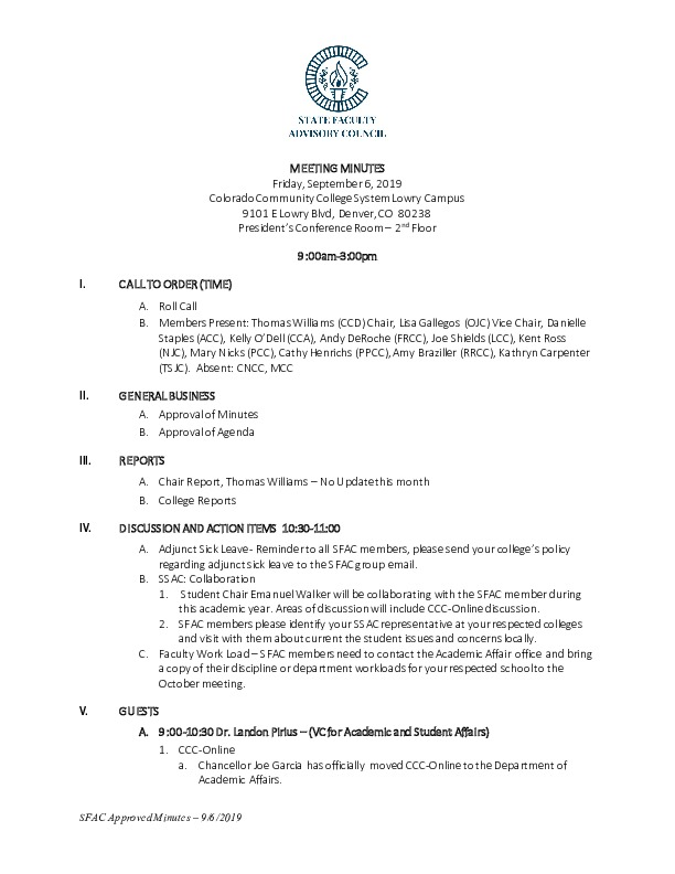 2019-09-06 SFAC Approved Minutes PDF