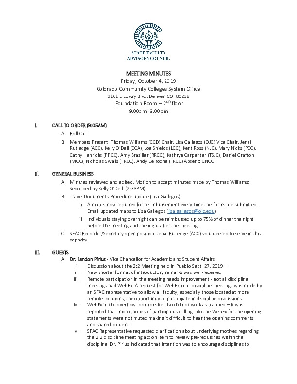 2019-10-04 SFAC Approved Minutes PDF