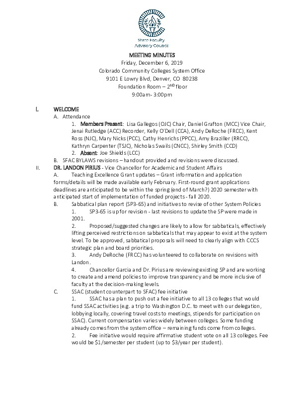 2019-12-06 SFAC Approved Minutes PDF