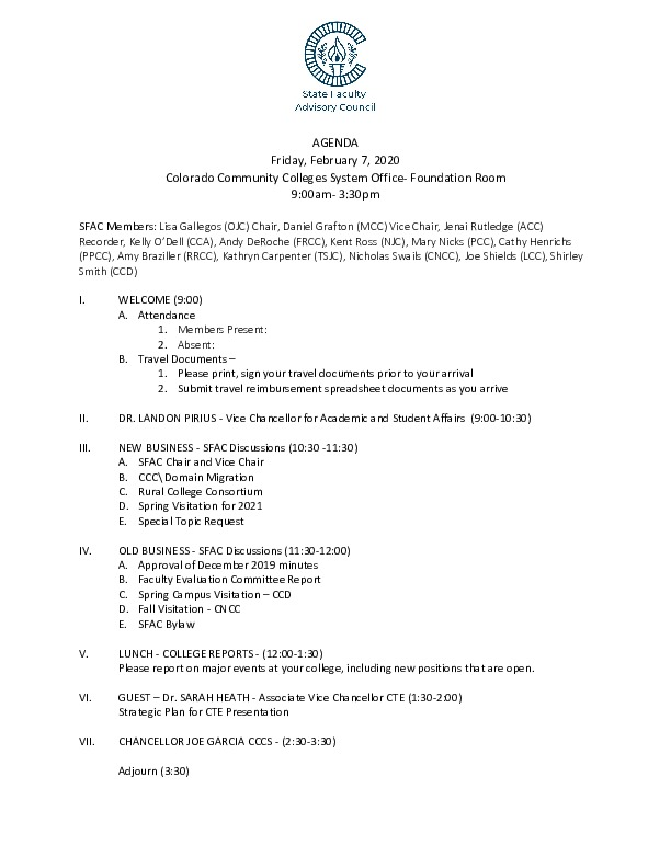 2020-02-07 SFAC Agenda PDF