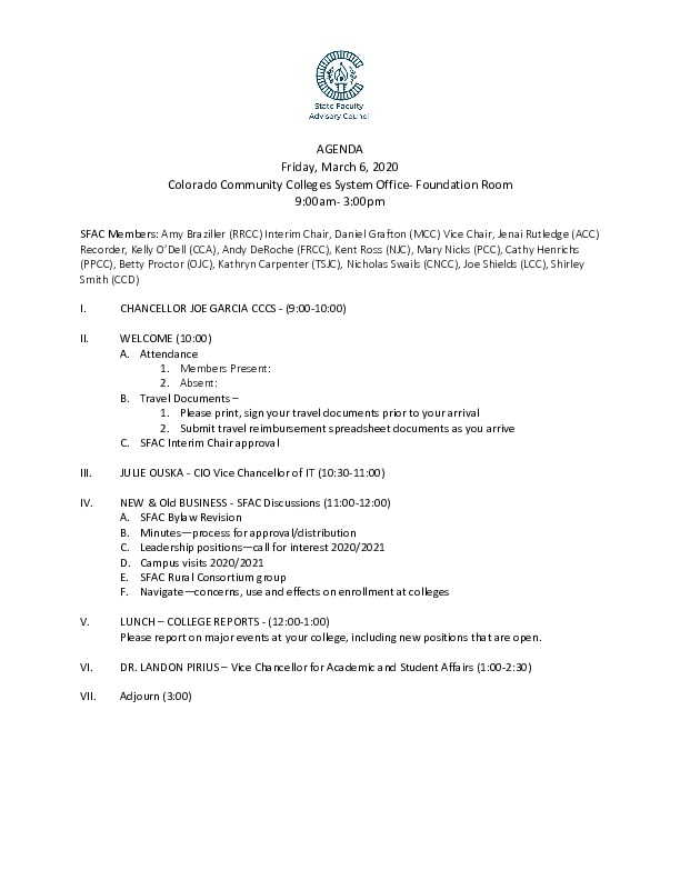 2020-03-02 SFAC Agenda PDF