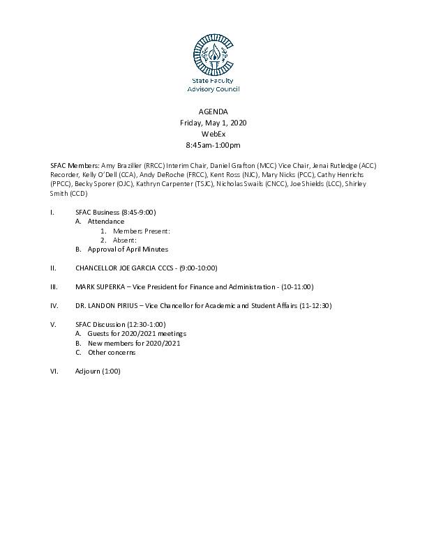 2020-05-01 SFAC Agenda PDF