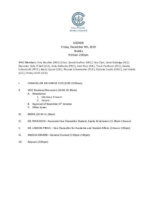 2020-12-04 SFAC Agenda PDF
