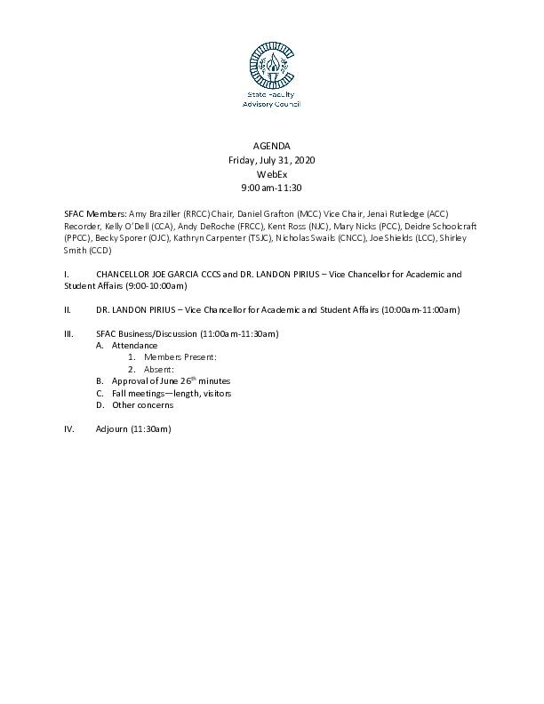 2020-07-31 SFAC Agenda PDF