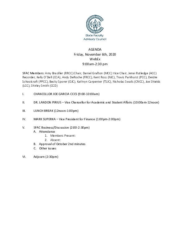 2020-11-06 SFAC Agenda PDF