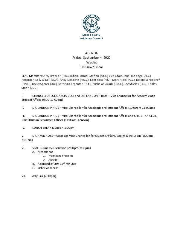 2020-09-04 SFAC Agenda PDF