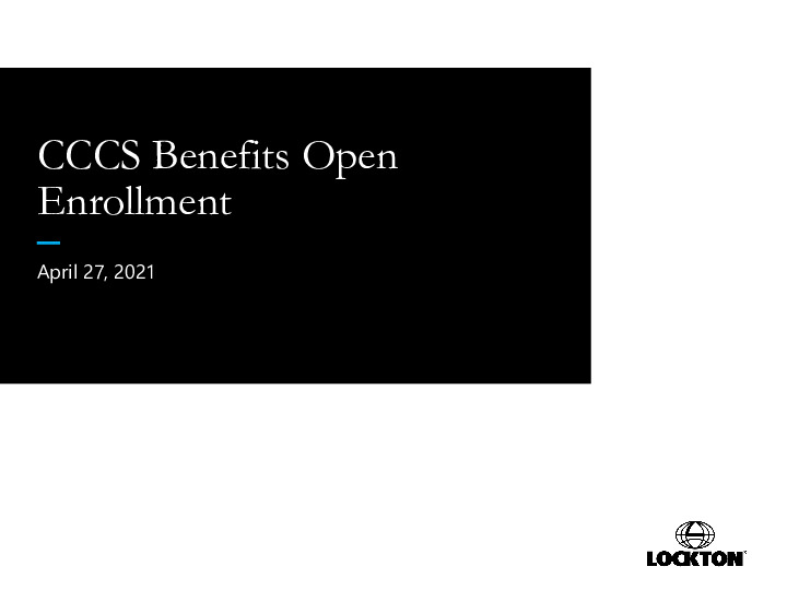 2021 CCCS Open Enrollment Presentation PDF