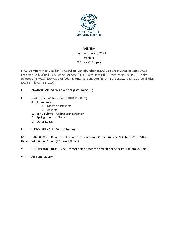2021-02-05 SFAC Agenda PDF