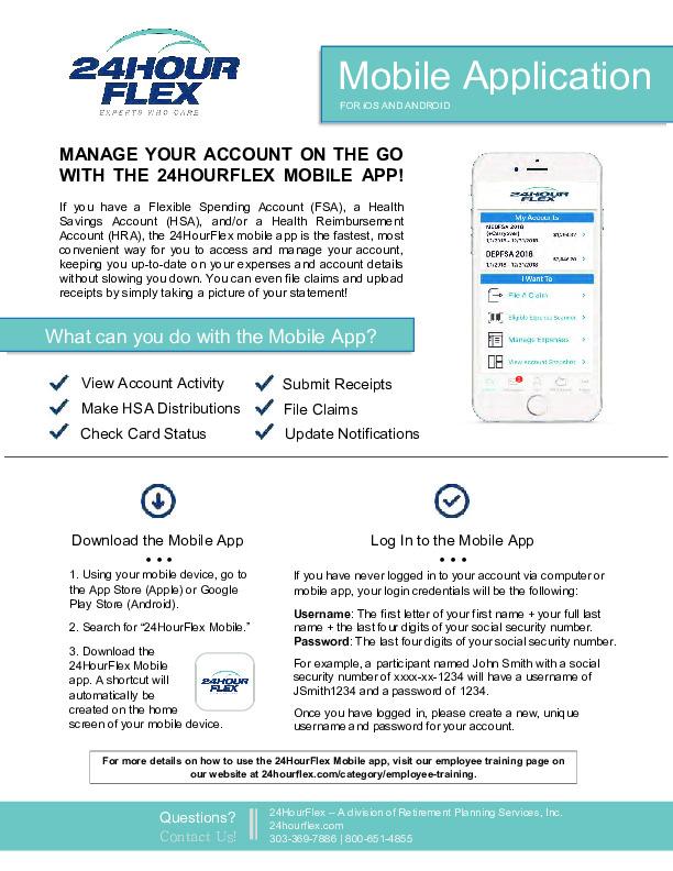 24Hour Flex Mobile App PDF