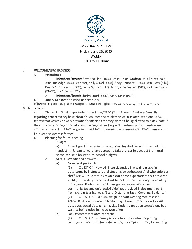 2020-06-26 SFAC Approved Minutes PDF