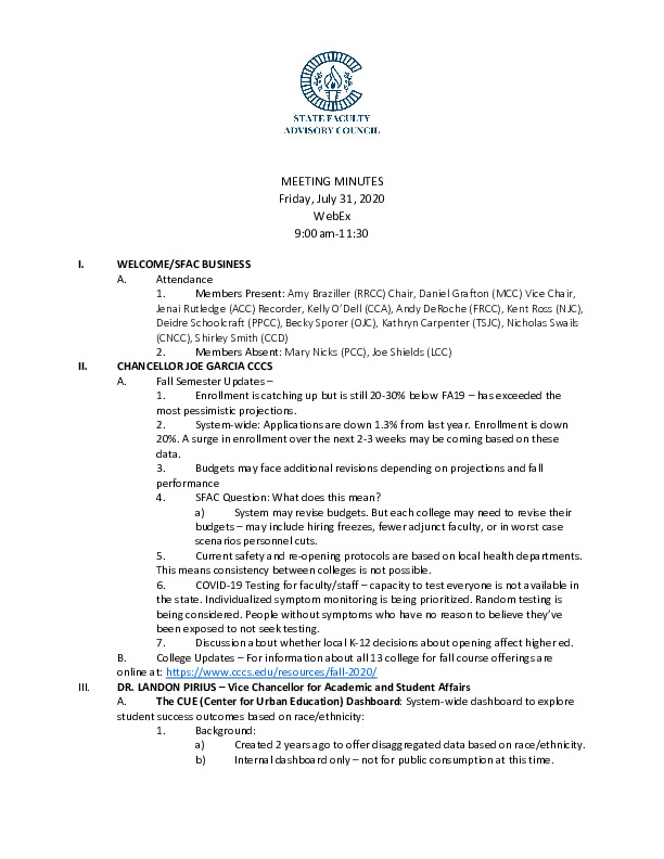 2020-07-31 SFAC Official Minutes PDF