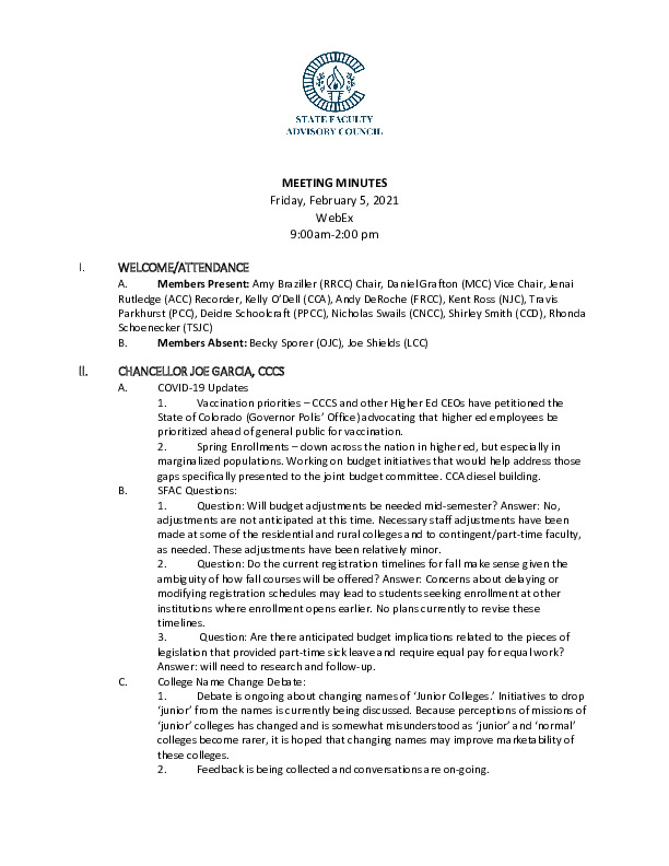 2021-02-05 SFAC Official Minutes PDF