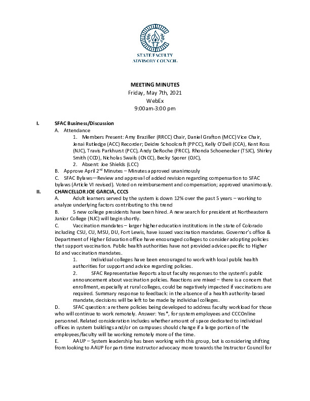 2021-05-07 SFAC Official Minutes PDF