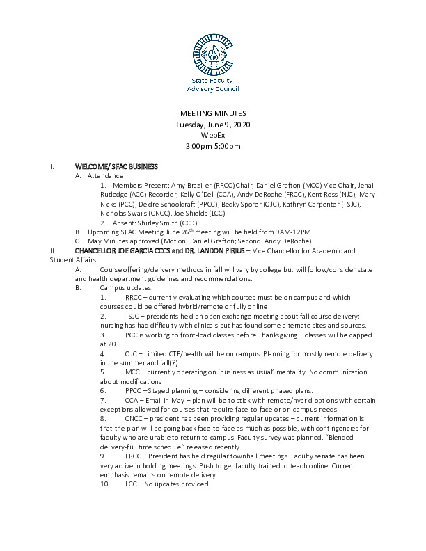 2020-06-09 SFAC Approved Minutes PDF