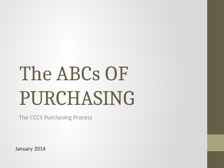ABCs of Purchasing Process Powerpoint
