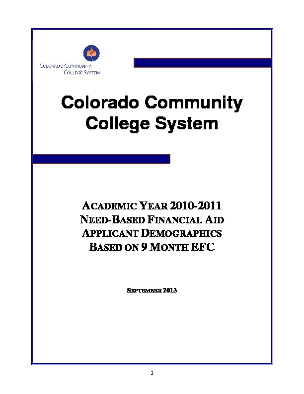 2011 Financial Aid Report PDF