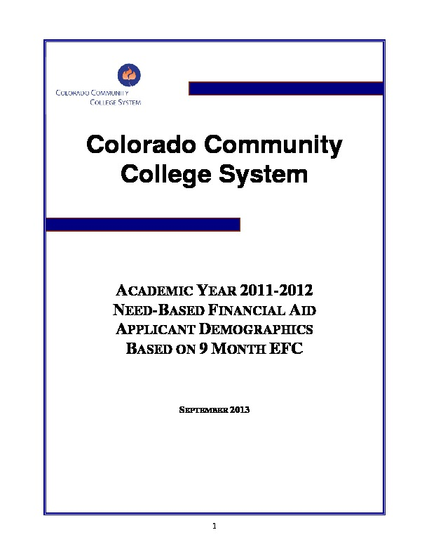 2012 Financial Aid Report PDF