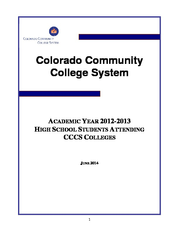 2012-13 Concurrent Enrollment Report PDF