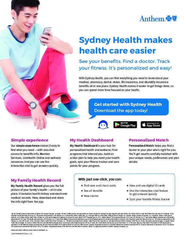 Anthem Sydney Health Flyer PDF
