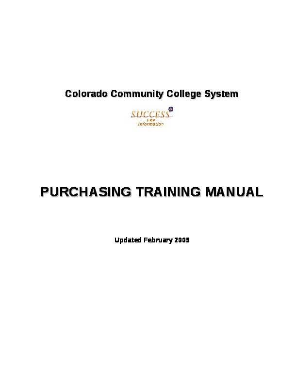 Banner Purchasing Manual Word Document