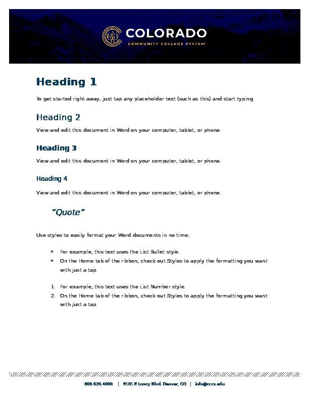 CCCS Internal Template Word Document Word Document