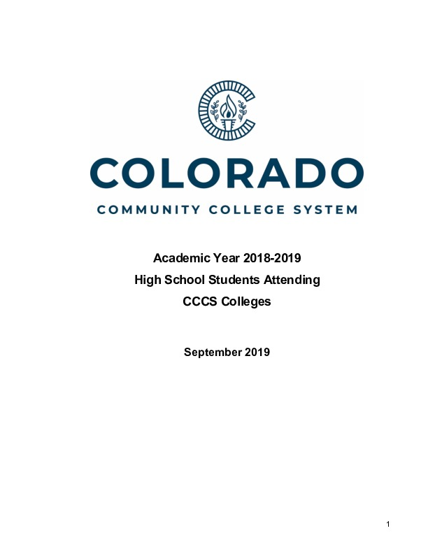 2018-19 Concurrent Enrollment Report PDF