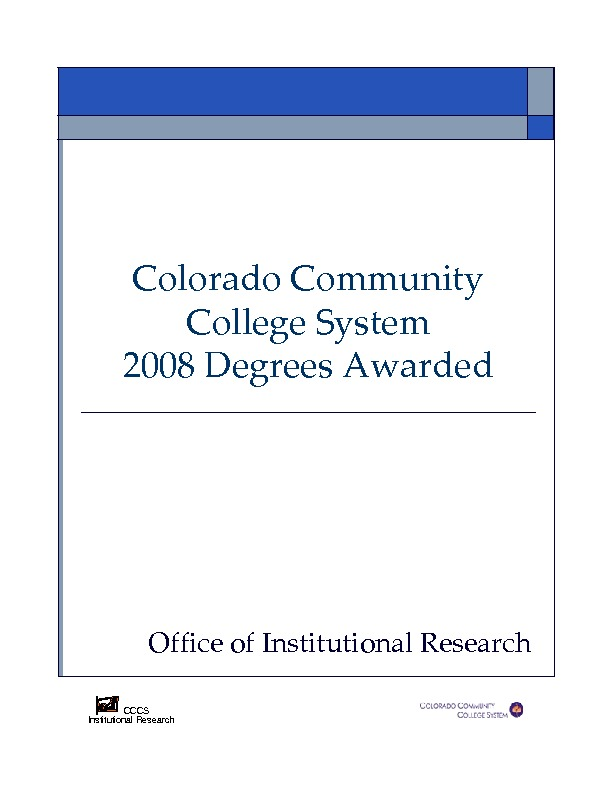 2008 Degrees Awarded PDF