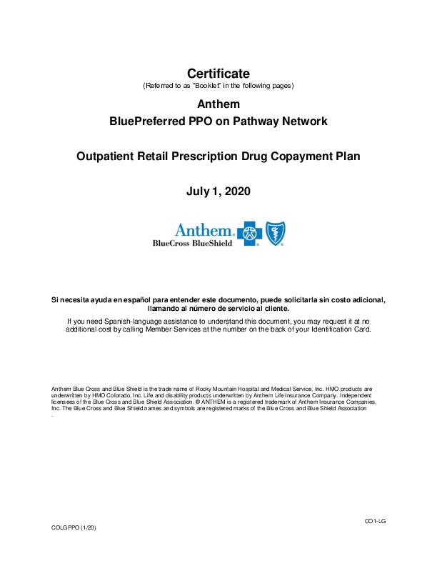 EOC Anthem Blue Preferred PPO 2020 PDF