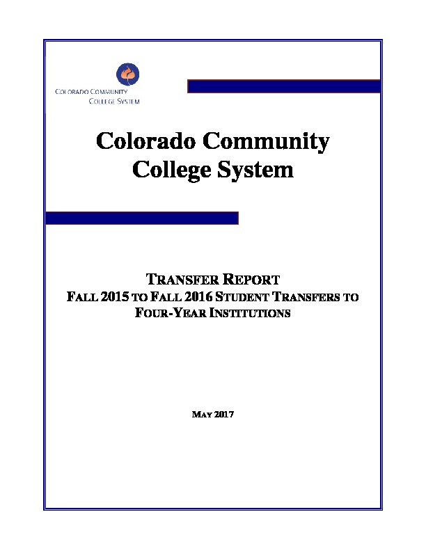 2016 Fall Transfer Report PDF