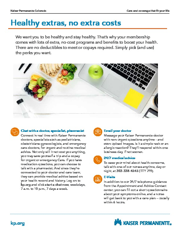 Kaiser Healthy Extras at No Cost PDF