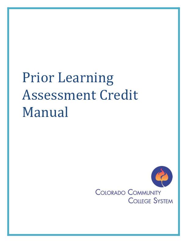 Prior Learning Assessment Credit Manual PDF