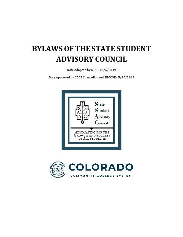 SSAC Bylaws Updated 2019 PDF