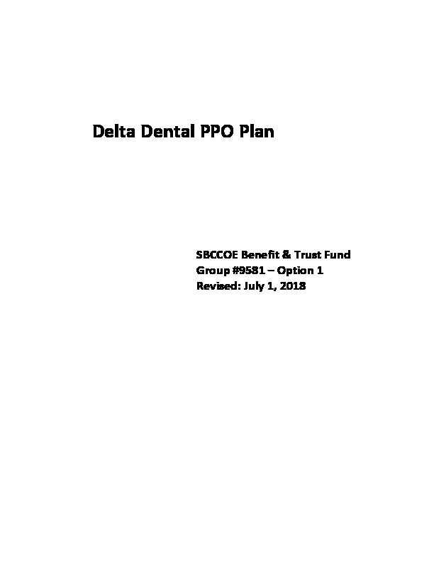 Delta Option I Schedule of Benefits PDF