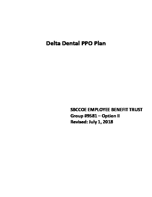 Delta Option II Schedule of Benefits PDF