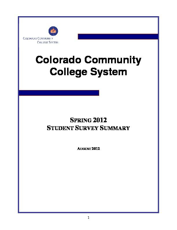 2012 Student Survey Report PDF